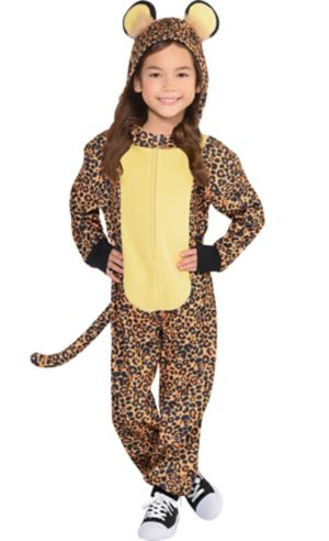 Toddler Girls Zipster Leopard One Piece Costume