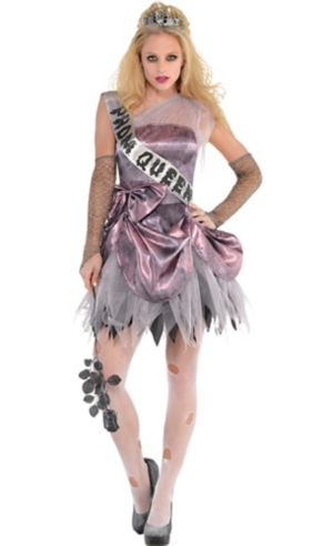 Teen Girls Zombie Prom Queen Costume