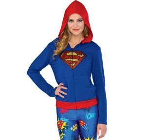 Supergirl Zip-Up Hoodie