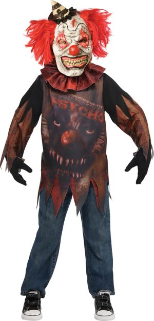Little Boys Side Show Psycho Clown Costume