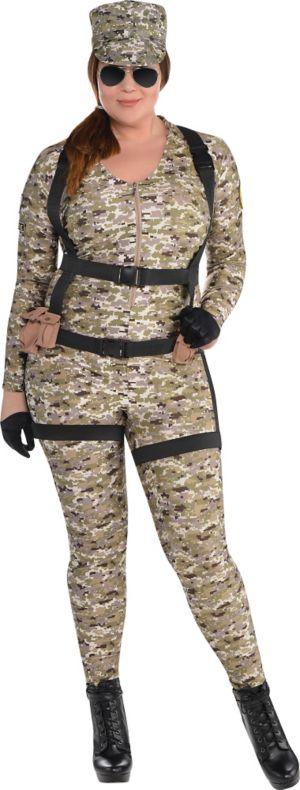 Adult Skyfall Suzie Paratrooper Costume Plus Size