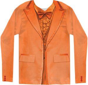 Orange Tuxedo Long-Sleeve Shirt