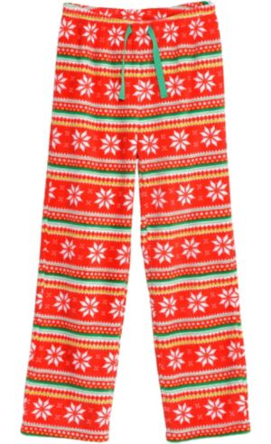 Red Fair Isle Christmas Pajama Pants