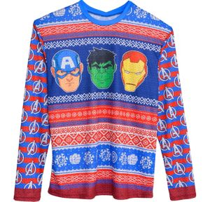 Avengers Ugly Christmas Sweater Long-Sleeve Shirt