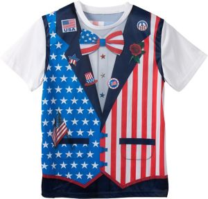 Patriotic Bow Tie & Vest T-Shirt