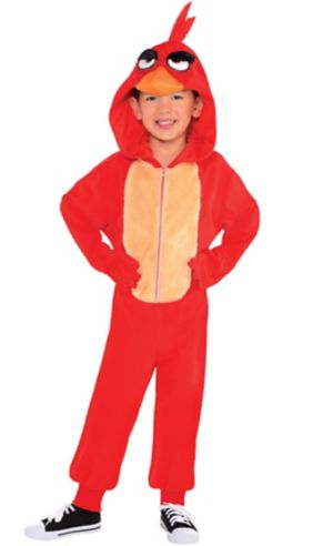 Little Boys Zipster Red Angry Bird One Piece Costume - The Angry Birds Movie