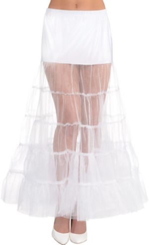 White Floor Length Petticoat