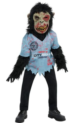 Little Boys Zombie Chimp Costume