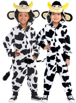 Toddler Zipster Cow One Piece Costume