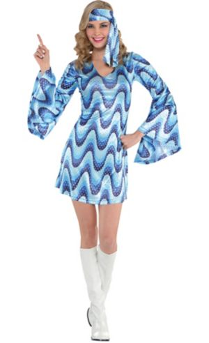 Adult Blue Disco Costume