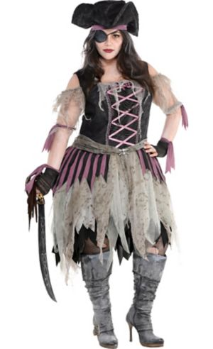 Adult Haunted Pirate Wench Costume Plus Size