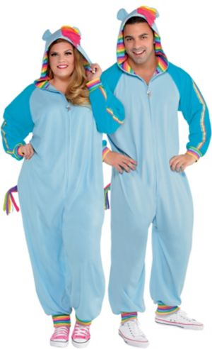 Adult Zipster Rainbow Dash One Piece Costume Plus Size - My Little Pony