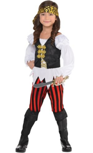Little Girls Pretty Scoundrel Pirate Costume