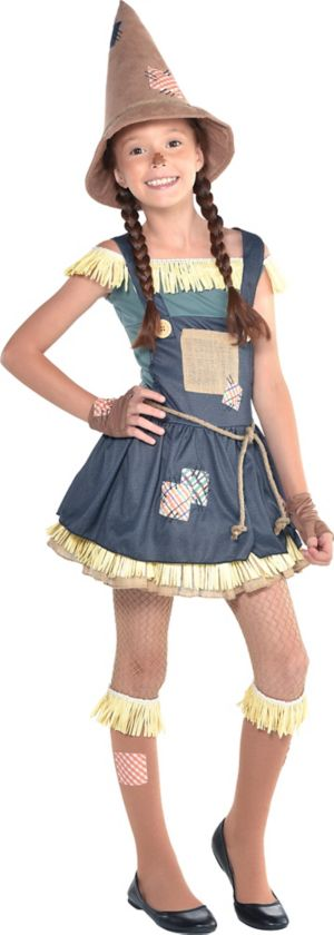 Girls Scarecrow Costume The Wizard Of Oz Party City Canada