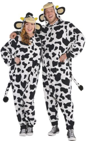 Adult Zipster Cow One Piece Costume Plus Size