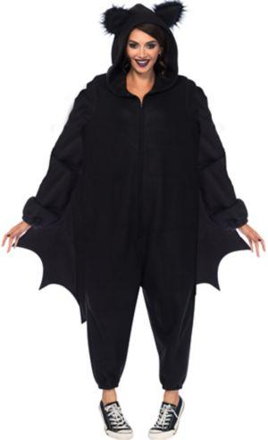 Adult Black Bat One Piece Costume