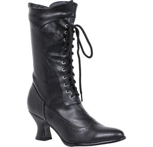 Black Amelia Victorian Boots
