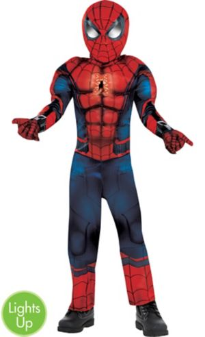 Little Boys Light-Up Spider-Man Muscle Costume - Captain America: Civil War