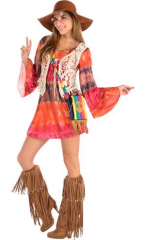 Adult Festival Hippie Costume Premier