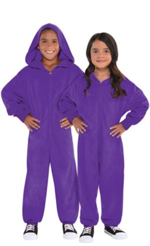 Child Zipster Purple One Piece Costume