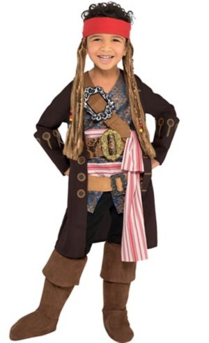 Little Boys Jack Sparrow Costume - Pirates of the Caribbean: Dead Men Tell No Tales