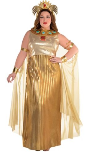 Adult Golden Cleopatra Costume Plus Size