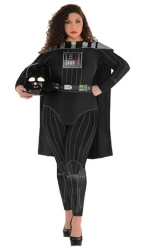 Adult Darth Vader Jumpsuit Costume Plus Size - Star Wars