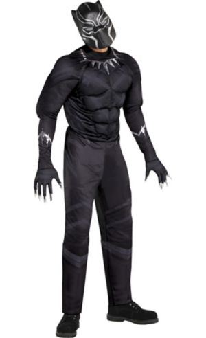 Adult Black Panther Muscle Costume - Captain America: Civil War