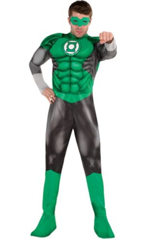 Adult Green Lantern Muscle Costume - DC Comics New 52