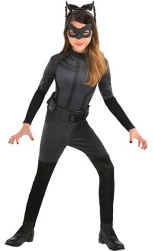 Girls Black Catwoman Costume - The Dark Knight Rises Batman