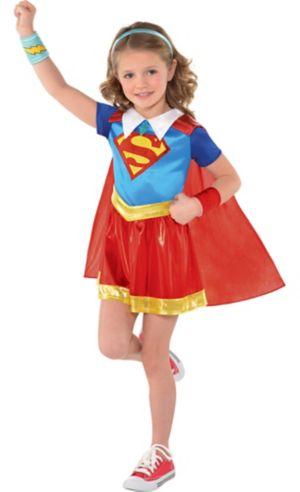 Little Girls Supergirl Dress Costume - DC Super Hero Girls