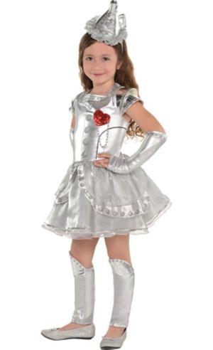 Little Girls Tin Man Costume - Wizard of Oz