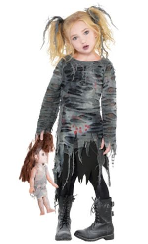Little Girls Undead Walker Zombie Costume