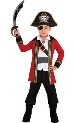 Toddler Boys Pirate Captain Costume