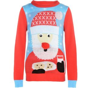 Child Santa Ugly Christmas Sweater