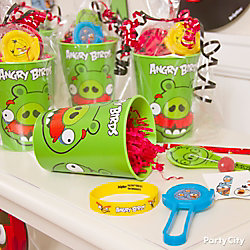 Angry Birds Favor Cup Idea