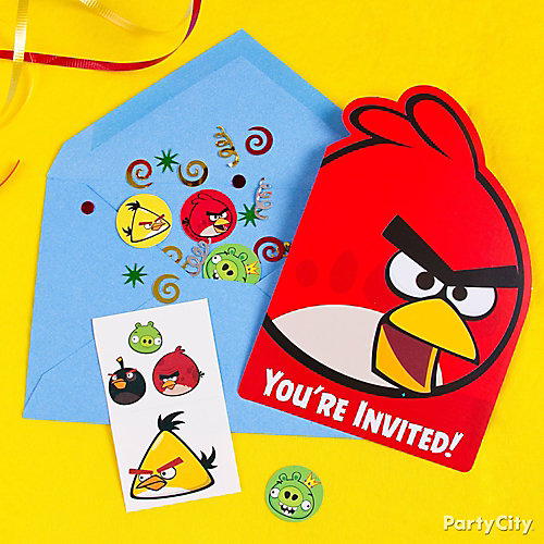 Angry Birds Invite with Surprise Idea