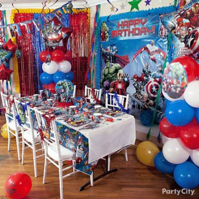 Avengers Balloon Column How To Party City
