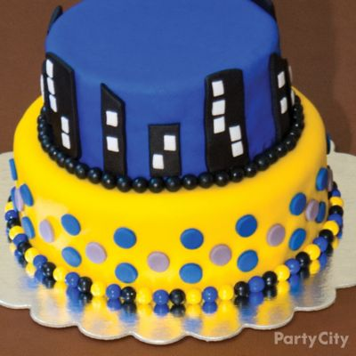 Batman Gotham Skyline Cake How To