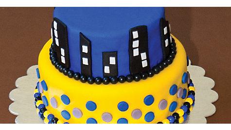 Batman Gotham Skyline Cake How To
