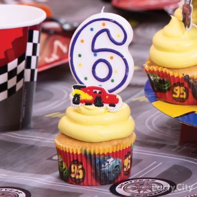 Cars Candle Cupcake Idea