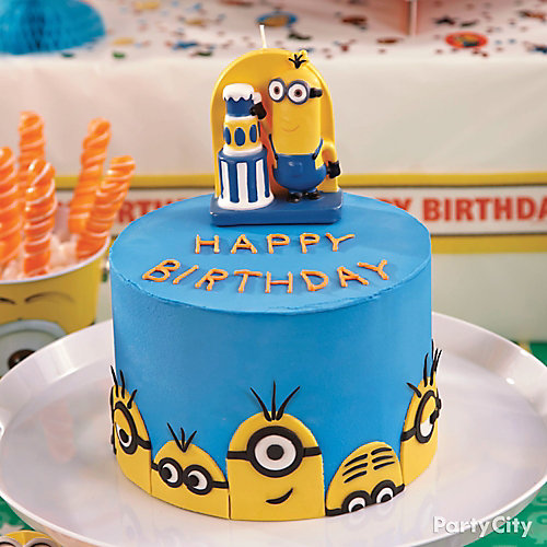 Despicable me minions cake how to party city - Cake decorations minions ...