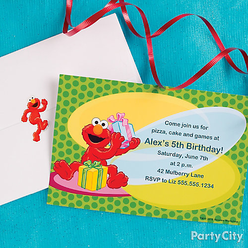 Elmo Custom Invite Idea