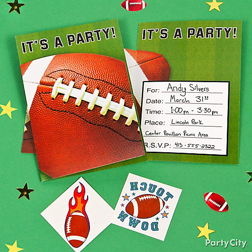 Football Invite with Surprise Idea