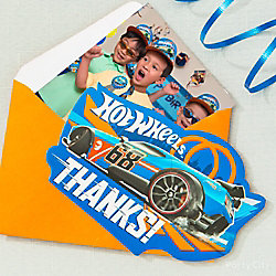 Hot Wheels Photo Thank You Note Idea