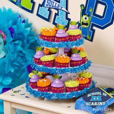 Monsters University Cupcake Tower Idea