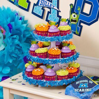 Monsters University Cupcake Tower Idea