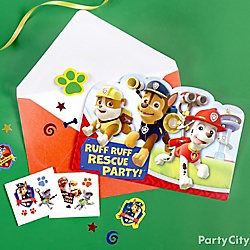 PAW Patrol Invite with Surprise Idea