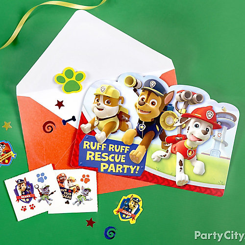 PAW Patrol Invitation with Surprise Idea Party City – Tattoo Party Invitations