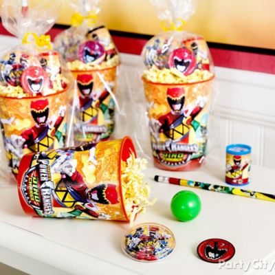 Power Rangers Favor Cup Idea